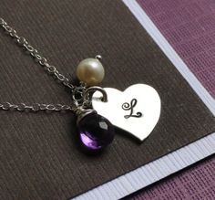 we are going to make something similar for Eric and Crystals wedding! bridesmaids initial necklace