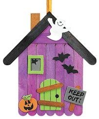 fall crafts for kids. could do this for Halloween but maybe Christmas too. Gingerbread house possibly?