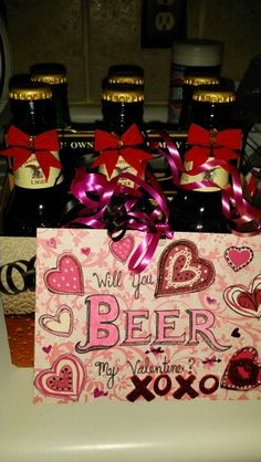Will you beer my valentine? For miles Valentine's valentine's for him gift ideas