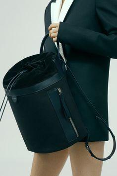 Acne Studios Trash black Drawstring backpack