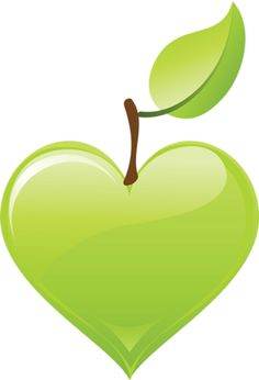 Green apple heart