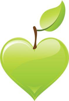 Green apple heart