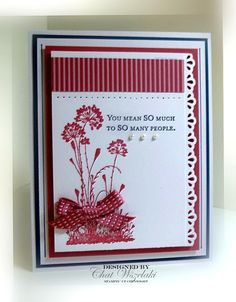 Me, My Stamps and I: Serene Silhouettes Handmade Birthday Cards, Greeting Cards Handmade, Serene Silhouettes, Spellbinders Cards, Beautiful Handmade Cards, Flower Cards, Flower Stamp, Stamping Up Cards, Cards For Friends