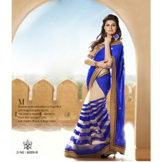 Online Shopping for Blue Color Designer Zari Work  Beau | Net Sarees | Unique Indian Products by Viva N Diva - MVIVA95546007480