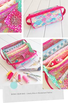 An awesome sew-together bag, also called the Bionic Gear bag which is perfect for holding all of your sewing kit. Sewing Tutorials, Sewing Projects, Sewing Patterns, Bag Patterns, Sewing Ideas, Sew Together Bag, Liberty Fabric, Christmas Bags, Sewing Box