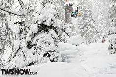 Looks like Danny Larsen is having quite the pow day. Wallpaper Wednesday: Real Talk | TransWorld SNOWboarding