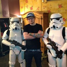 Just Ed Sheeran with some storm troopers :)
