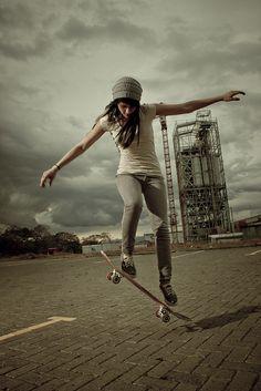 Skater Girl, skateboard, tomboy