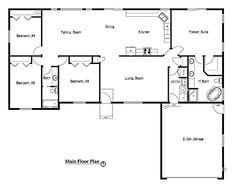 4 Bedroom Rambler Floor Plans | Complete Design, Inc. | 2003 Tour Of Homes
