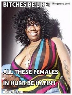 BITCHES+BE+LIKE:                        ALL+THESE+FEMALES+  IN+HURR+BE+HATIN'!