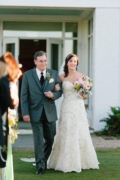 Father of the Bride - Charleston Weddings - Daniel Island Club wedding with mint details by Riverland Studios