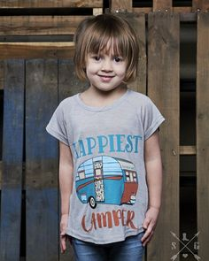 Any Happy or should I say Happiest Campers? Girls Happiest Camp Short Sleeve Grey Shirt Comes in Sizes: 2/4, 4/6, 6/8, 8/10 and 10/12 for $18.00 Comfy and Cute! FREE Shipping through April, Use code freeship Additional picture of shirt on our website! Ready to order--->>> http://www.mackieshaeboutique.com/apps/webstore/products/show/7417480 Be the First to see new items, Sales, Give-a-ways, and More, JOIN OUR GROUP!!   https://www.facebook.com/groups/mackieshae/