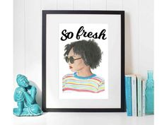 Fresh And Clean, Digital Prints, Unique Jewelry, Frame, Handmade Gifts, How To Make, Etsy, Vintage, Home Decor