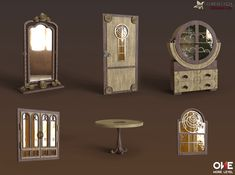 These are the models of furniture I made for Crime Secrets: Crimson Lily game. It's a Hidden Object Puzzle Adventure type game and these models were used for 3D scene renders of the backgrounds in the game. I did most of the 3D work on this game: scenes and props, characters, 3D animations.