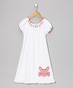 Take a look at this White & Red Crab Cover-Up - Infant, Toddler & Girls on zulily today!