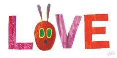 The Very Hungry Caterpillar Character Love Pose 2 by Eric Carle Painting Print on Wrapped Canvas