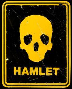 Theatre poster of the week, Hamlet.