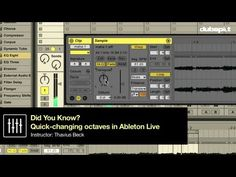 Ableton Live Tips w/ Thavius Beck: 'Did You Know' Pt 13 - Quickly Changing Octaves + Transposing Computer Music, Audio Music, Ableton Live, Good Tutorials, Music Production, Music Education, Live Music, Did You Know, Instruments