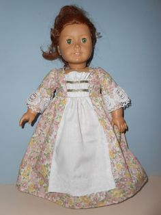 18 Inch American Girl Doll Historic dress Colonial perfect for Felicity, Elizabeth or Caroline by Project Funway on Etsy