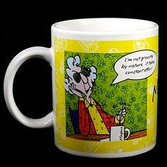 Maxine Coffee Mug Grouchy Breakfast In Bed Hallmark Yellow Green Gift Idea Funny #Hallmark