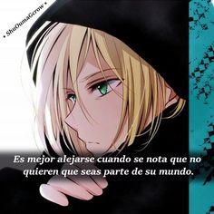 es mejor alejarse . #ShuOumaGcrow #Anime #Frases_anime #frases