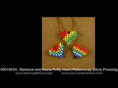 Bead Patterns - Beaded Puffy Heart