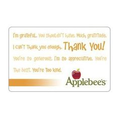 Applebee's Gift Card Collection, (gift cards, outrageous shipping, restaurant, restaurants)