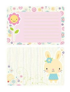 FREE printable cute stationery for girls | coeur de beurre