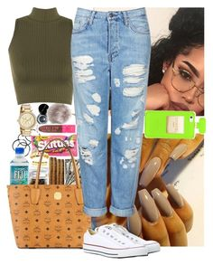 """"" by msixo ❤ liked on Polyvore featuring Bobbi Brown Cosmetics, Nila Anthony, H&M, MCM, WearAll, Topshop, Converse and Michael Kors"
