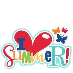 I Heart Summer Title SVG scrapbook cut file cute clipart files for silhouette cricut pazzles free svgs free svg cuts cute cut files Scrapbook Titles, Scrapbooking Layouts, Digital Scrapbooking, Hello Summer, Summer Fun, Summer Days, Summer Clipart, Beach Clipart, Cute Clipart