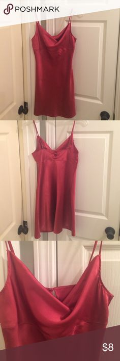 Victoria's Secret chemise. Sz S Victoria's Secret chemise. Sz S.  EUC.  No rips/stains:tears. Smoke/pet free home. Color is burgundy. Victoria's Secret Intimates & Sleepwear Chemises & Slips