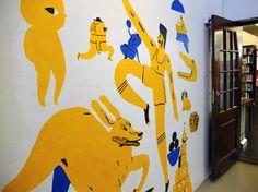 Wallpainting at library - marikajo.com