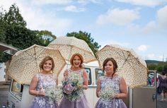 Such a cute shot and check out those bouquets! The Lavender dresses are gorgeous! Bridesmaid style 'M570' by True Bride