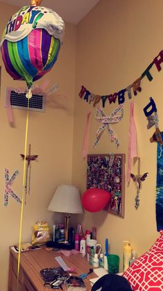 Delightful 20th Birthday Dorm Room Decoration Surprise! Part 19