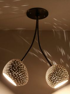 Double Headed Claylight Pendant from Sophisticated Textures: Furniture