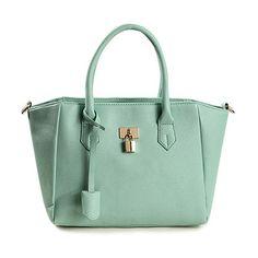 $13.46 Elegant Women's Tote Bag With Pendant and Lock Design