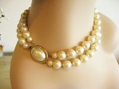 Vintage CAROLEE 2 Strand Pearl Necklace - Vintage Jewelry by FembyDesign, $27.99