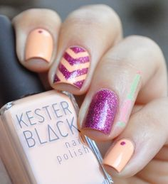 Pretty Pink & Peach Chevron
