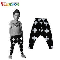 Barato [ Eudemon ] calças de menino outono crianças roupas de algodão Harem Pants cruzadas para meninos das meninas roupas Pants estilo moda 2016 calças infantis, Compro Qualidade Calças diretamente de fornecedores da China: