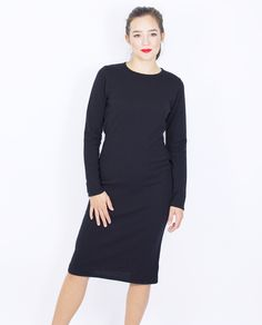 BLACK DRESS Knitwear, Dresses For Work, Black, Products, Fashion, Moda, Tricot, Black People, Fashion Styles