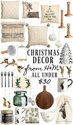 Shop the items above with affiliate links by clicking the photos below: Each year it's my favorite thing to check unexpected places for Holiday decor from Amazon to little online shops to clothing boutiques like H&M who now have home decor. H&M always has a few key pieces for Christmas decor & the best …