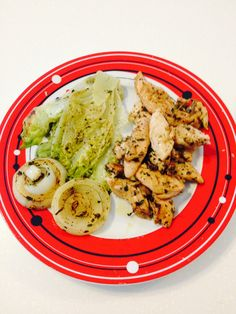 Grilled chicken cajun & romaine lettuce