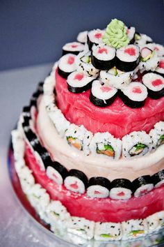 i know what kind of cake i'm having at my wedding. SUSHI!