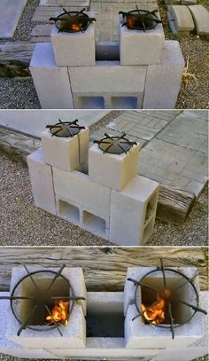 Dual Burner Rocket Stove