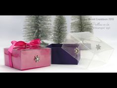 Window Sheets, Winter Wonderland Embellishments, Whisper White Satin Ribbon, Melon Mambo Stitched Satin Ribbon - Advent Countdown #8 Beautiful Colour Acetate Lidded Box Tutorial Video