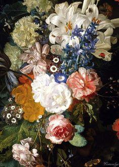 Jan van Huysum, Bouquet of Flowers (details)