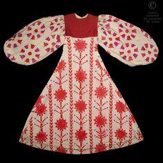 Costume from the Sir Thomas Beecham Opera Company, for a Prince Khovanski's servant in Moussorgski's Khovanshchina or The Khovansky Affair opera,  cotton dress, pencil painting