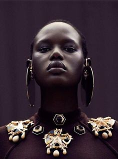 Ajak Deng in Obsession Magazine....stunning!
