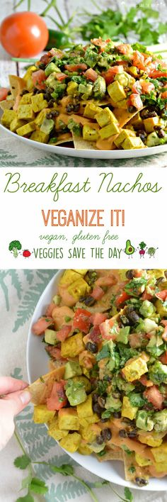 Breakfast Nachos from Veganize It! by Robin Robertson (vegan, gluten free)