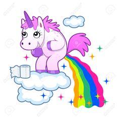 unicorn throwing up rainbow - Recherche Google